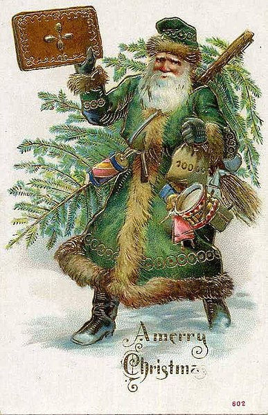 1909 German Santa in public domain