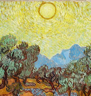 Vincent Van Gogh's version of a bright sun